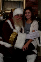 Hannah and Haley meet Santa--against their will